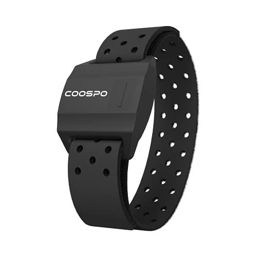 CooSpo Heart Rate Monitor Armband Optical Heart Rate Monitor Armband Sensor Bluetooth ANT+ IP67 Waterproof for Peloton, Wahoo, Garmin, Endomondo, Strava, Zwift