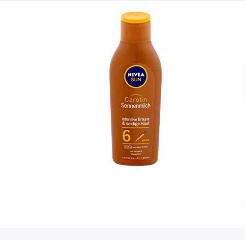 Nivea Sun Carotin Sonnenmilch LSF 6, 1er Pack (1 x 200 ml)