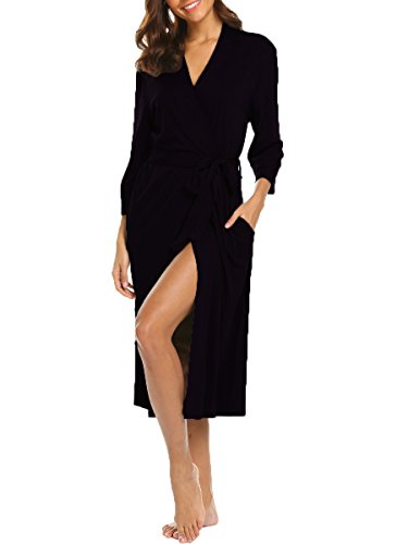 Lalala Robe, Soft Cotton Dressing Gowns for Women Housecoat Loungewear...