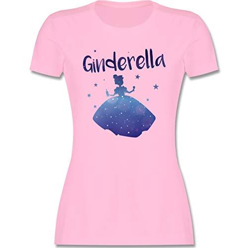 Typisch Frauen - Ginderella - L - Rosa - Gin Damen - L191 - Tailliertes Tshirt für Damen und Frauen T-Shirt