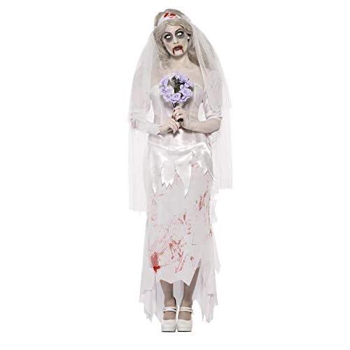 SMIFFYS Costume Zombie Sposa Finché Morte non ci Separi, comprende Abito, Velo e Bouquet