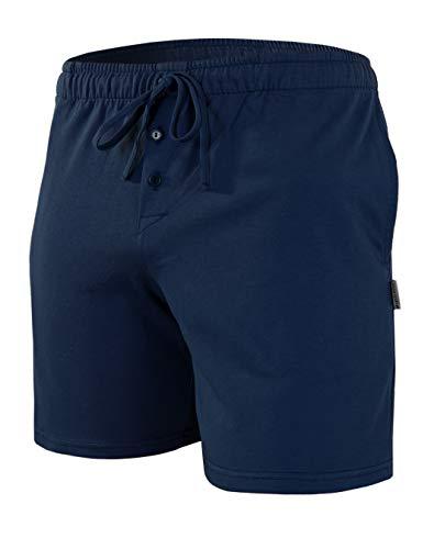 Sesto Senso Pantaloncini Pigiama Uomo Pantaloni Corto Cotone Shorts Confezione da 1-2 Pezzi L Blu Scuro