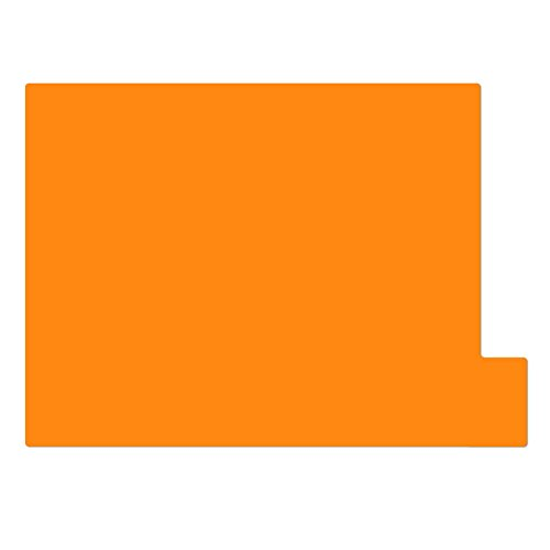 仕切りガイド【A4ヨコ型 [ラテラル] 】書類 棚 カルテフォルダー 仕切り板 整理 トレー 10枚セット (オレンジ)