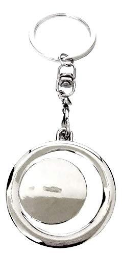 Sleutelhanger met ronde hanger met ruimte voor foto's gepersonaliseerde afbeelding cadeau-idee voor mannen en vrouwen