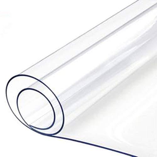 SCAHUN Lona Alquitranada Protección Lona De Protección PVC Transparente De 0.3 Mm De Espesor Cuatro Estaciones Impermeable Impermeable Anti-Nieve Mantener Caliente Tiene Muchos Usos,White-1.5×2.5m