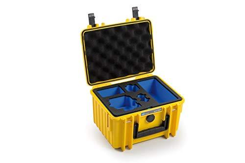 B&W Outdoor Case 2000 - Maletín rígido para GoPro Hero 8 y Accesorios (Carcasa rígida IP67, Impermeable, Dimensiones Interiores 25 x 17,5 x 15,5 cm), Color Amarillo
