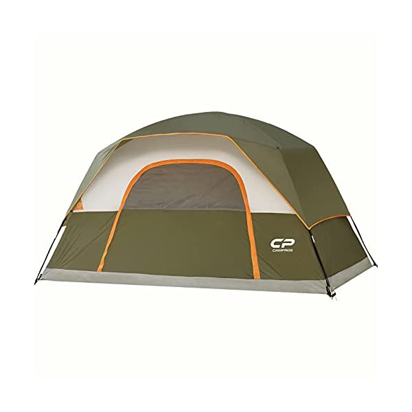 CAMPROS-Tent-68-Person-Camping-Tents-Waterproof-Windproof-Family-Dome-Tent-with-Top-Rainfly-Large-Mesh-Windows-Double-Layer-Easy-Set-Up-Portable-with-Carry-Bag-for-All-Seasons