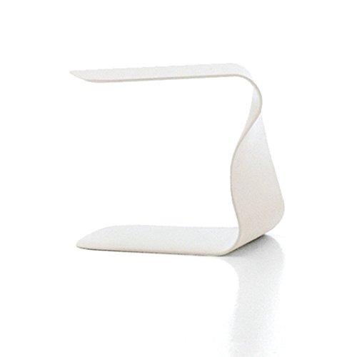 L'Aquila Design Arredamenti Bonaldo Duffy Tisch weiß lackiert Polyurethan Nachttisch Schlafzimmer Wohnzimmer TD 35