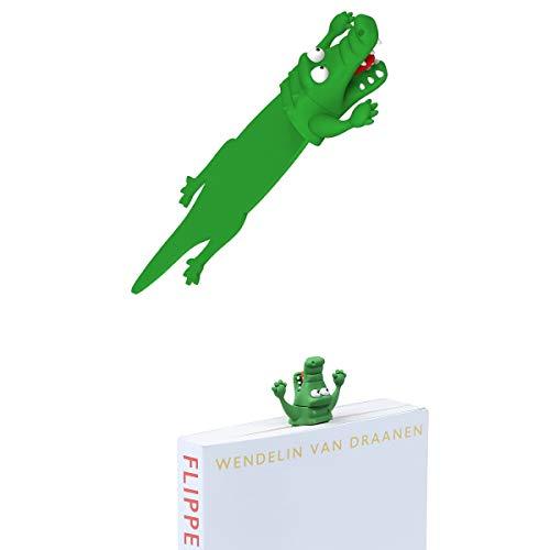 OYLZ Funny Squashed Animal Crocodile Bookmark Wacky Alligator Bookmarks Pals for Kids Girls Boys Men Women