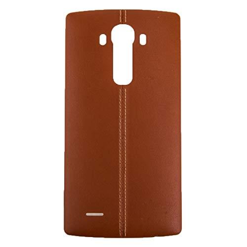 YANGJ Teléfono Batería Tapa Trasera Reparación Repuesto Cubierta Trasera con Adhesivo NFC for LG G4 (Negro) (Color : Brown)