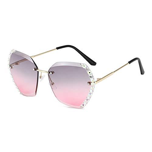 SFQRYP Gafas de sol para mujer 2020 con gafas de diamante (color del marco: transparente, color de las lentes: 9)