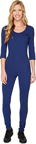 PUMA Damen T7 Velour Jumpsuit Kleid, Blau-Blue Depths, Mittel