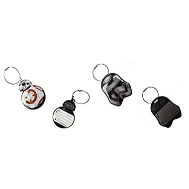 Star Wars EP7 Force Awakens BB8 and Phasma Aluminum Bag Tag Luggage Tag Set