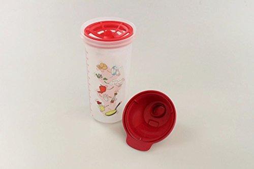 Tupperware Backen Mix-Fix Shaker 600ml lachs rot Shaky Küchenhelfer Omelett 33758