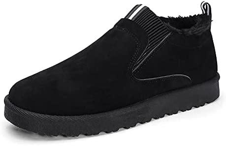 Dacomfy Mens Slippers Men's Loafers & Slip-ons House Slippers for Men Winter Shoes with Warm Fur Lined Suede Penny Loafers Casual Shoes for Men Boyfriend
