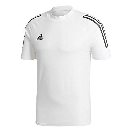 adidas CON20 T-Shirt Camiseta para Hombre, Blanco/Negro, XLT