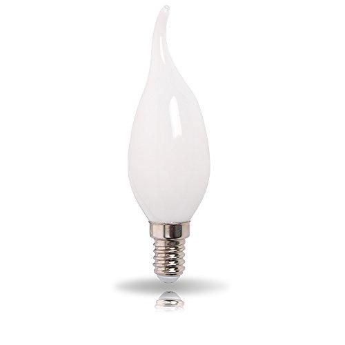 LED Leuchtmittel 360° opal matt warmweiß 2700K - Windstoßkerze E14 3W = 25W