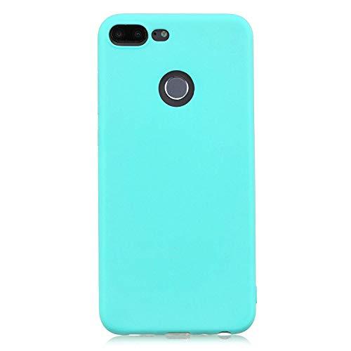 cuzz Funda para Huawei Honor 9 Lite+{Protector de Pantalla de Vidrio Templado} Carcasa Silicona Suave Gel Rasguño y Resistente Teléfono Móvil Cover-Azul Claro