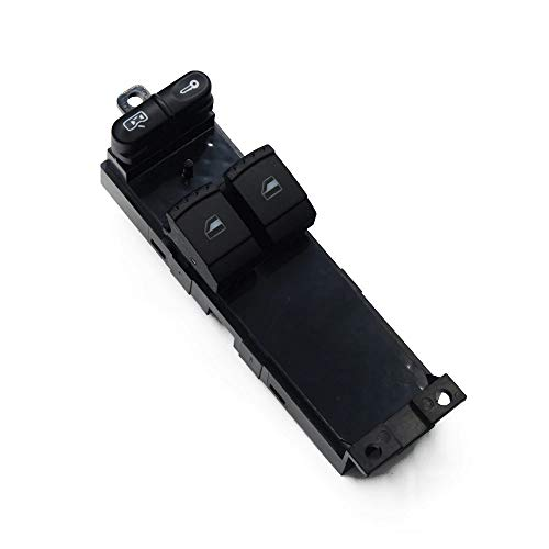AWQC Interruptor de la Ventana 1J3959857 Compatible con Skoda Fabia Octavia VW Bora Golf Seat Leon Electric Window Switch 1J3 959 857 B reemplazo