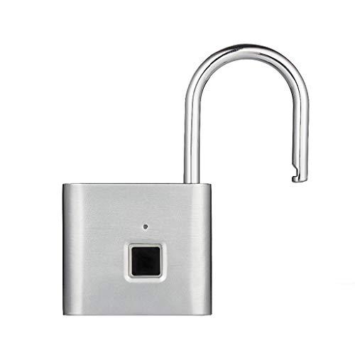 Cerradura De La Puerta Seguridad Sin Llave USB Recargable Cerradura De La Puerta Huella Digital Inteligente Candado Desbloqueo Rápido Metal De Aleación De Zinc Autodesarrollo Chip Cerraduras De Embuti