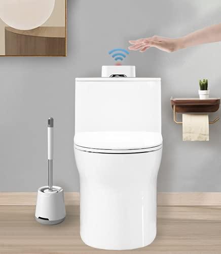Automatic Toilet Flusher Portable Lithium Battery Touchless Toilet Flusher External Infrared Automatic Toilet Flusher Kit Toilet Flushing Kit