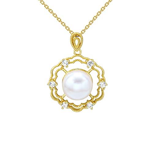 collar de perlas naturales antiguo