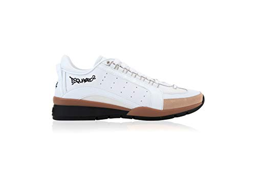 DSQUARED2 551 - Zapatillas para hombre Blanco Size: 46 EU Larga