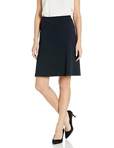Calvin Klein Women's Straight Skirt, Navy, 4