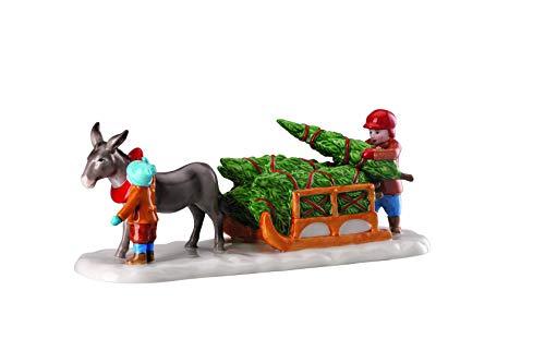 Hutschenreuther Weihnachtsmarkt Esel mit Schlitten (22,6 x 7,6 x 8,3 cm) Porzellanfigur, Porzellan, Bunt