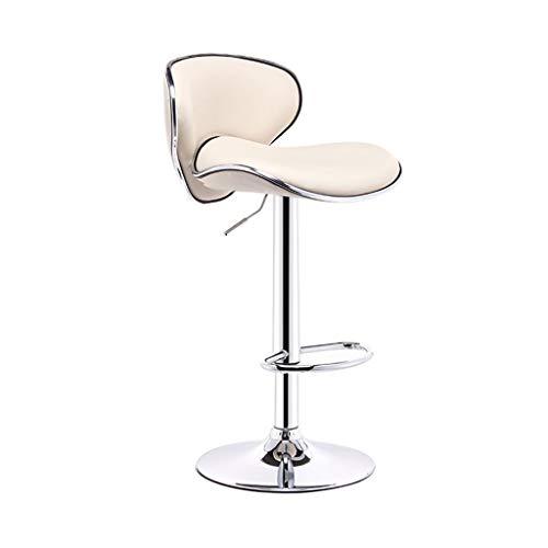CHY Ajustable Taburetes con Respaldos Metal del Eslabón Giratorio Taburete De Barra De Sillas De Oficina Ordenador De La Cocina (Color : Beige, Size : Bar stools Set of 4)