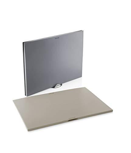 EVA SOLO Schneidebretter 3 Stück mit Halter, grau, Aluminium, 38 x 3 x 27 cm
