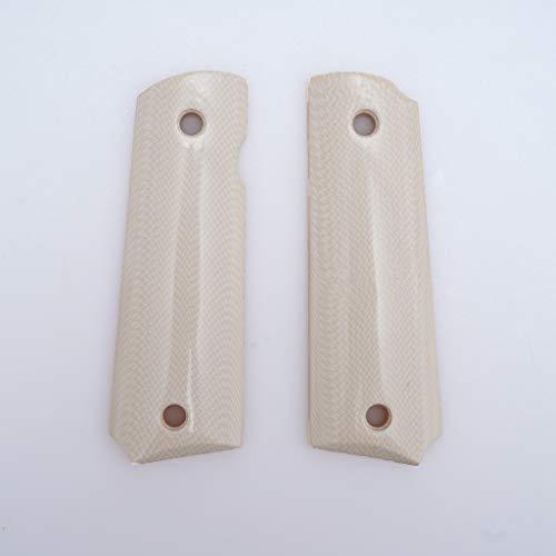 コルトガバメントM1911フルサイズ用樹脂ベース製グリップ (樹脂アイボリー白)