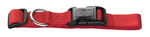 HUNTER Ecco Sport Vario Basic Collier en Nylon avec Fermeture à clic pour Chien Rouge Taille S