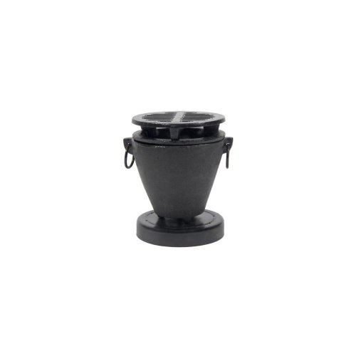 Town Food Service 51355 3.5 in. x 4.75 in. Cast Iron Hibachi - Black