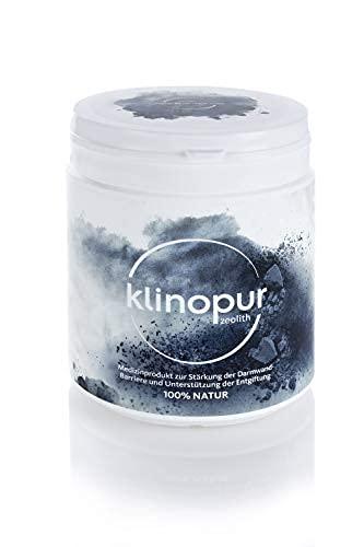 Zeolith Pulver, Großpackung 450 g, Premium-Zeolith ultrafein, geprüftes Medizinprodukt, Klinoptilolith unterstützt die Entgiftung des Darms, als Detox Kur   KLINOPUR