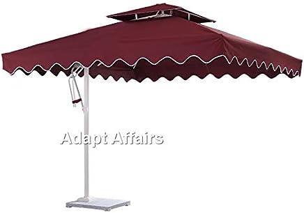 353de06ddb82b Invezo Impression Garden Square Umbrella with Aluminum Side Pole and Base  (2.5 x 2.5 sq