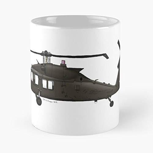 Fsgdesgin9s Blackhawk Air 60M Uh Force Swedish Hkp16 La Migliore Tazza da caffè in Ceramica in Marmo Bianco da 11 Once