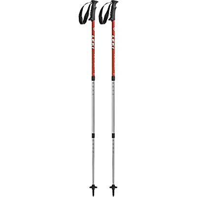 Leki Unisex Adult Voyager Trekking Sticks-Black, 110-145 cm