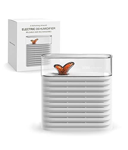 Snowpea - Deumidificatore elettrico per armadio, per rimuovere la condensa, assorbe l'umidità, assorbe l'umidità nel guardaroba e nei cassetti, per tessuti pregiati e indumenti delicati