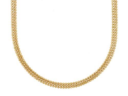 Mossimo, Collar con Multi Cadenas diamantadas con baño de Oro de 22 kilates.