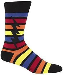 Sock It To Me Stripe Bolt Mens Crew Socks