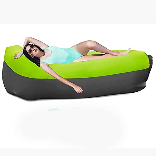Homclo Divano gonfiabile ad aria impermeabile, divano gonfiabile portatile, per campeggio, piscina (verde)
