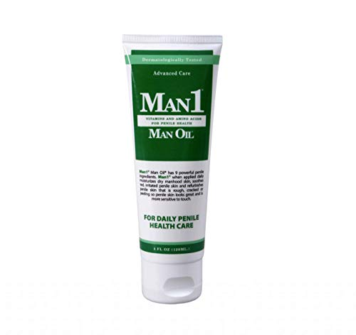 Man1 Man Oil Penile Health Cream - Advanced Care. Treat Dry, red, Cracked or Peeling penile Skin. Improves Sensation Over time.
