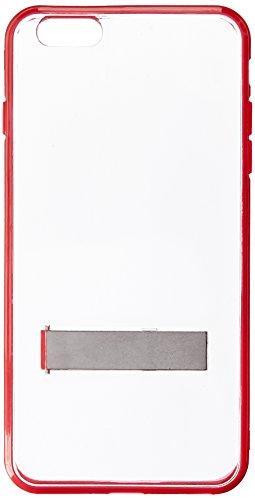 HRWireless HR - Funda de Transporte inalámbrica para iPhone 6/6S Plus de 5' (Embalaje al por Menor), Color Transparente y Rojo