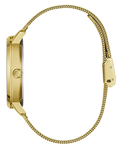 GUESS Women Quartz Watch with Stainless Steel Strap, Gold, 18 (Model: GW0243L2)