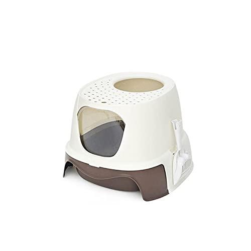 Caja de Arena Top Entrada Caja de Arena Caja Totalmente Cerrada Cat Book Desodorante Desodorante Splash- Proof Drawer Plástico Cat Bandeja Bandeja para Gatos (Color : A)