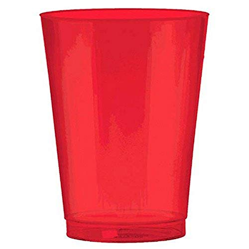 Buy Amscan Red, Big Party Pack, Plastic Cups 10 Ounce., 72 Per Pack