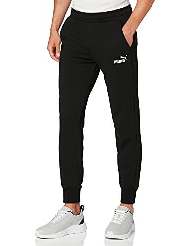 PUMA ESS Logo Pants TR cl Pants, Hombre, Puma Black, M