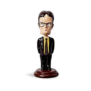 The Office  Dwight Schrute Bobblehead - Dunder Mifflin Bobble Head Figure - Funny Merch & Memorabilia - Novelty Car Dashboard Statue - TV Show Collectible Figures - Stunned Mind