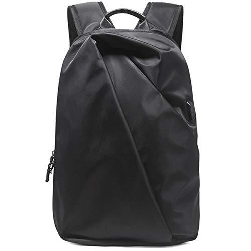 Mochila de gran capacidad para portátil de negocios Mochila de viaje con puerto de carga resistente al agua mochila escolar, Black, 28*14*43cm, Moda